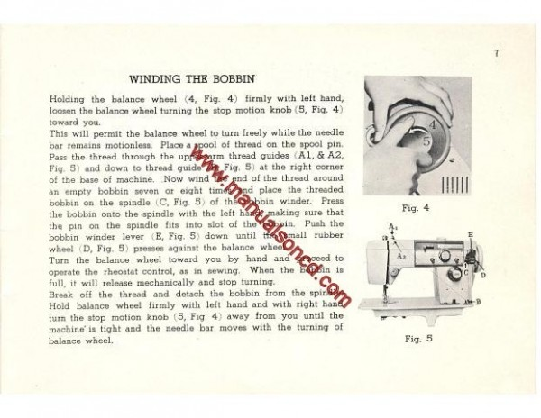 Stradivaro Model 5600 Sewing Machine Instruction Manual