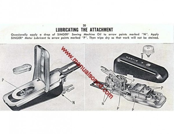 Singer Buttonholer Sewing Machine Instruction Manual