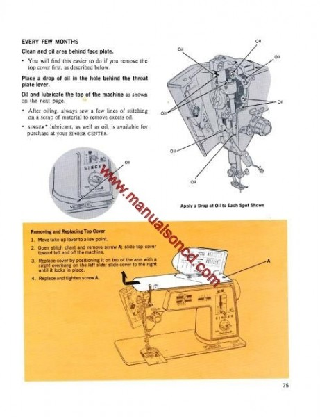 Singer 630 Golden Touch and Sew Instruction Manual