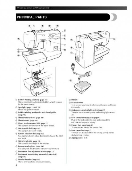Brother XL-1500 Sewing Machine Instruction Manual