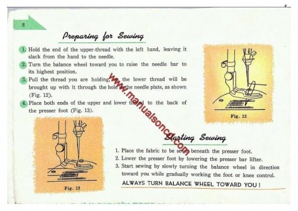 Fleetwood Sewing Machine Instruction Manual Zig-Zag