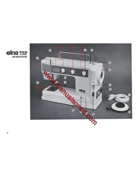 Elna Air Electronic Tsp Sewing Machine Manual