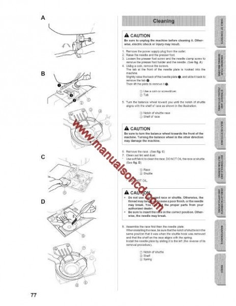 Singer XL6562 Sewing Machine Instruction Manual