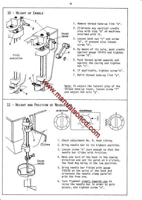Elna Air Electronic Carina Elna 40 Sewing Machine Service Manual Stunning Elna Carina Sewing Machine