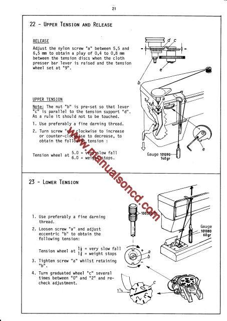 Elna Air Electronic Carina Elna 40 Sewing Machine Service Manual Stunning Elna Air Electronic Tsp Sewing Machine Manual