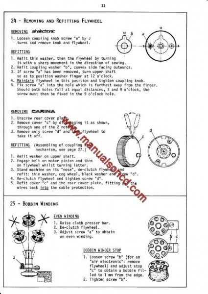 Elna Air Electronic - Carina - Elna 500 Sewing Machine Service Manual