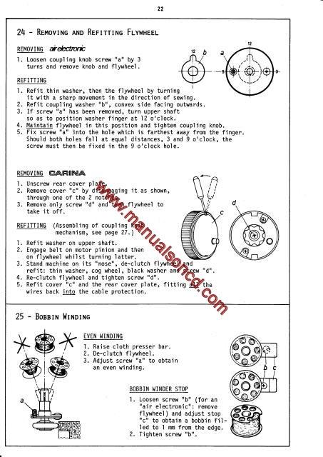 Elna Air Electronic Carina Elna 40 Sewing Machine Service Manual Fascinating Elna Air Electronic Tsp Sewing Machine Manual
