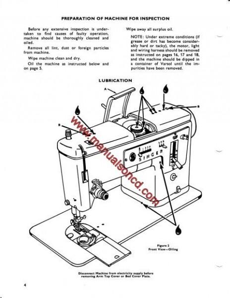 Singer 338 Sewing Machine Service Manual