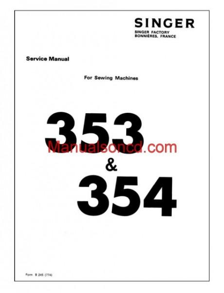 Singer Genie 353, 354 Sewing Machine Service Manual