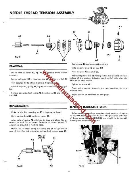 sewing machine service manuals