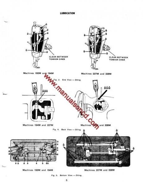 Singer 193M, 194M, 227M, 228M Sewing Machine Service Manual