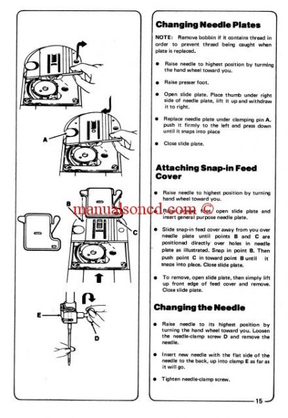 Singer Model 974 Sewing Machine Instruction Manual