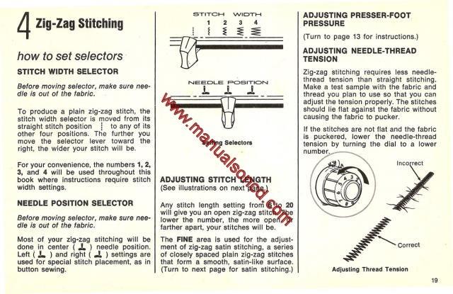 Singer 257 Fashion Mate Sewing Machine Instruction Manual