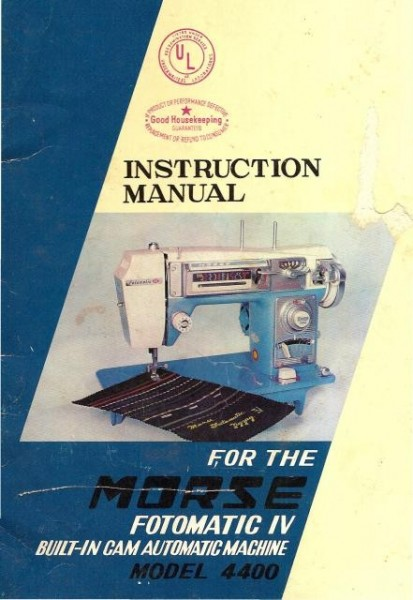 Morse 4400 Sewing Machine Instruction Manual