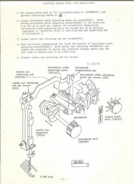 Janome 702 Sewing Machine Service Manual