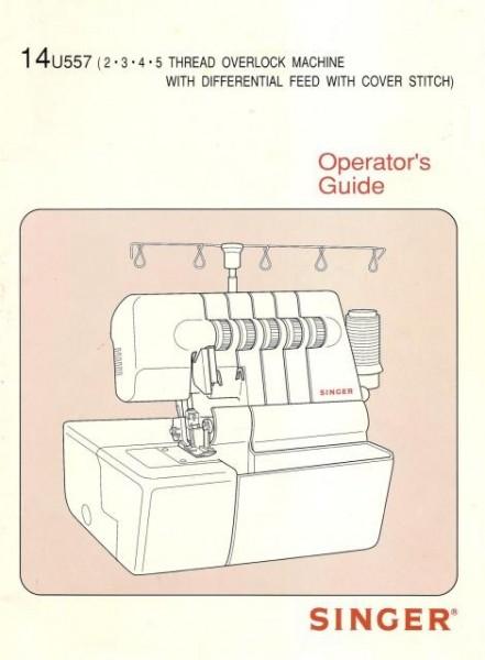 Singer 14U557 Overlock Sewing Machine Manual