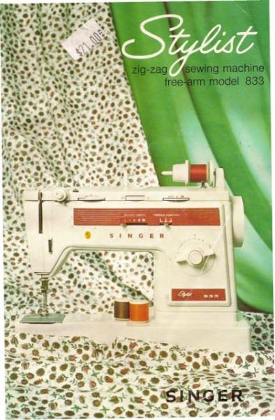 Singer 833 Stylist Sewing Machine Instruction Manual