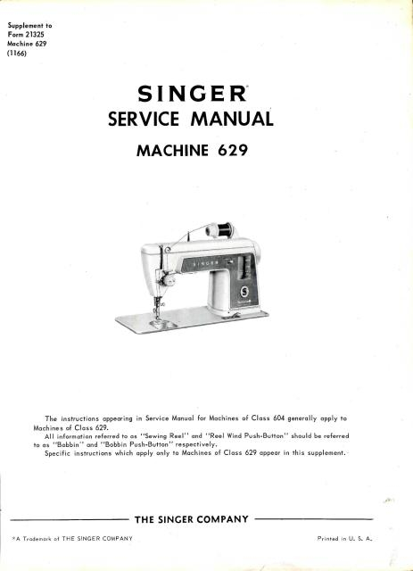 245a singer 604 629 sewing machine service manual singer sewing machine wiring diagram at readyjetset.co