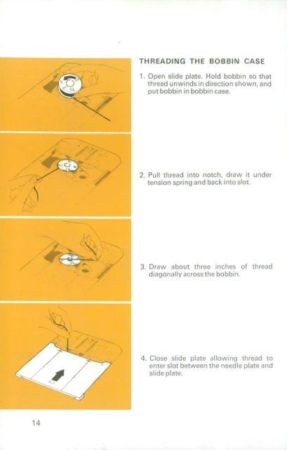 Singer 834 sewing machine instruction manual.