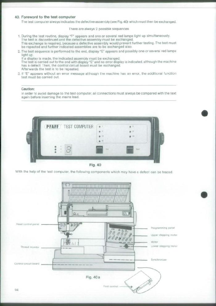 Pfaff 1473 Creative Designer Sewing Machine Service Manual Manual Guide