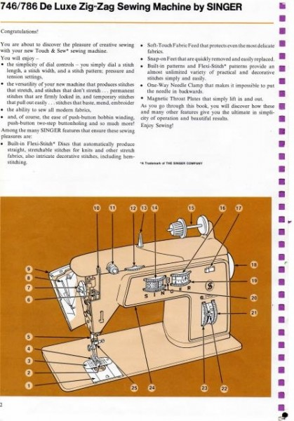 Singer 786 Sewing Machine Instruction Manual