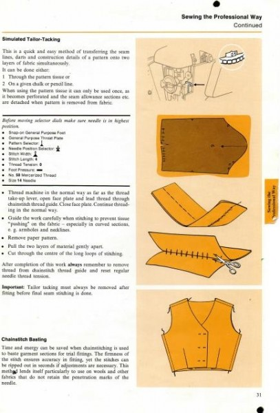 Singer 786 Sewing Machine Instruction Manual