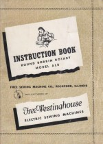 Free Westinghouse Rotary Sewing Machine Manual Model ALB