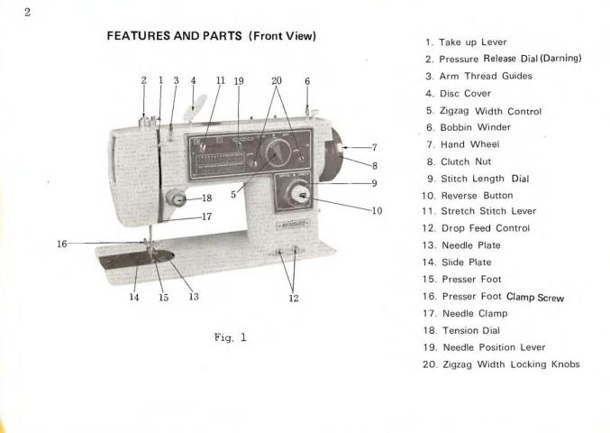 Printed singer 317 sewing machine manual (smm725).