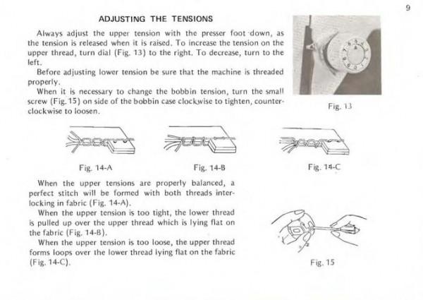 Dressmaker 7000 Sewing Machine Instruction Manual