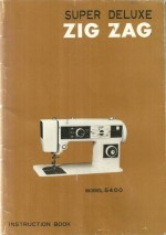 Morse 5400 Sewing Machine Instruction Manual