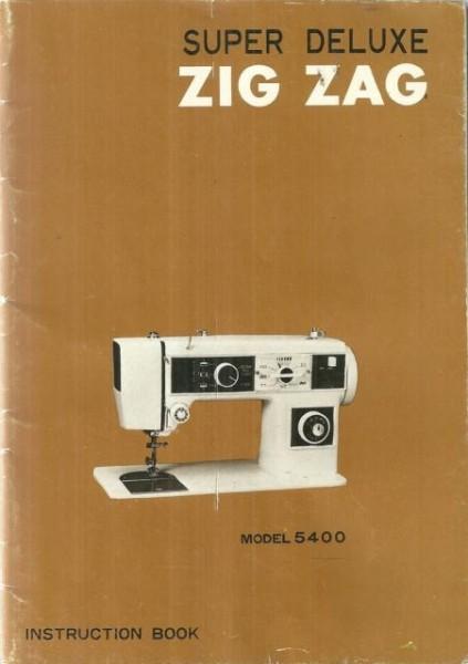 Morse 5400 Sewing Machine Instruction Manual