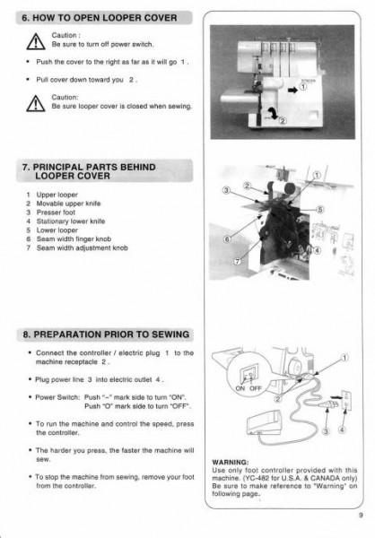 Singer 14SH644 14SH654 Serger Sewing Machine Manual