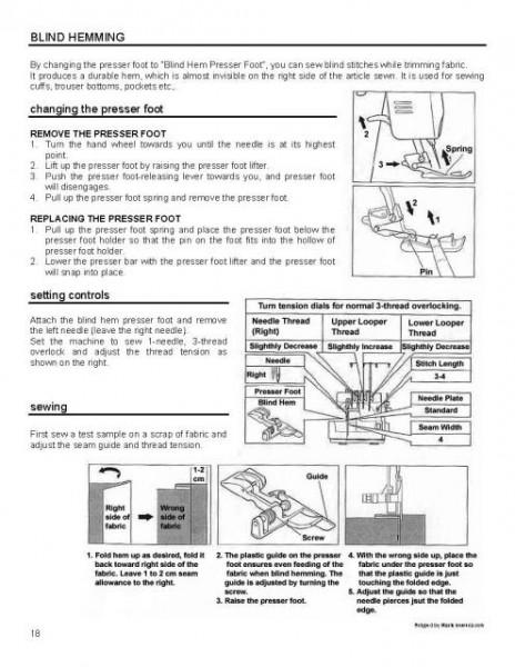 Simplicity Easy Lock SL370 Serger Manual
