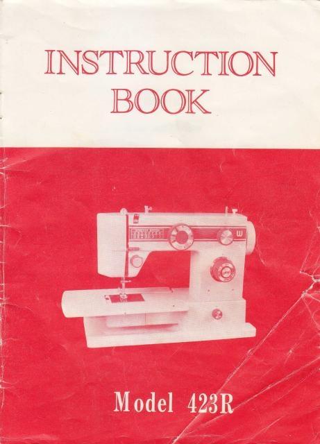 White 40R Sewing Machine Instruction Manual Delectable White Sewing Machine Manual
