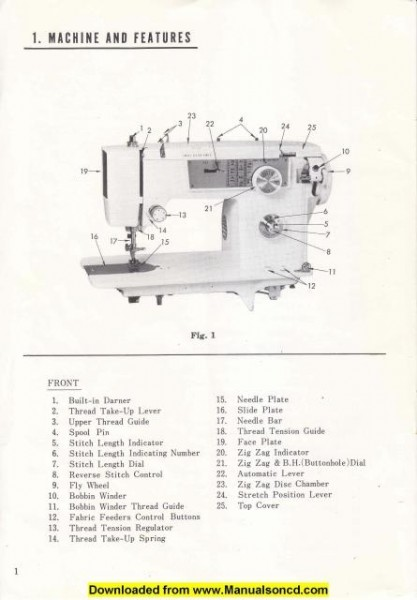 Morse 300-F Sewing Machine Instruction Manual