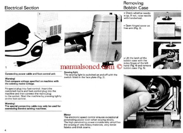 Bernina 801 - 802 - 803 Sport Sewing Machine Instruction Manual