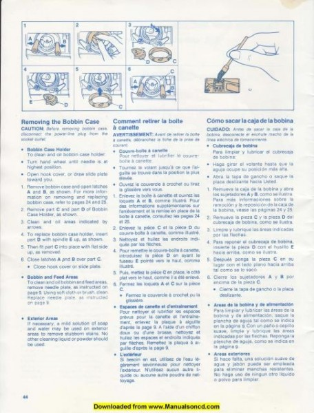 Singer 5502 - 5522 Sewing Machine Instruction Manual