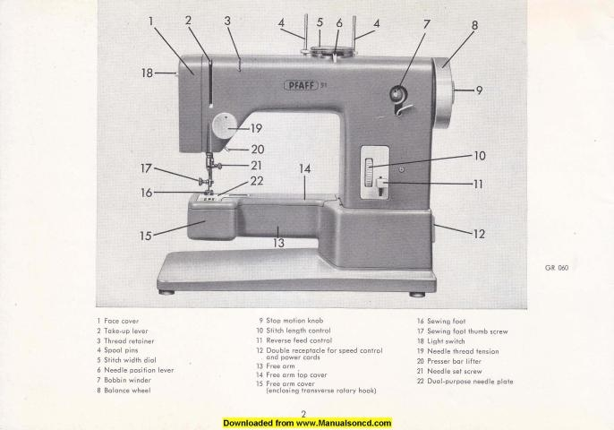 Pfaff 91 sewing machine instruction manual for Machine a coudre 91