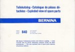Bernina 840 Class Sewing Machine Parts Manual