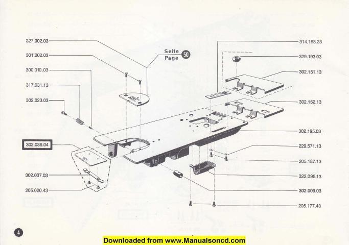840 Class Sewing Machine Parts Manual