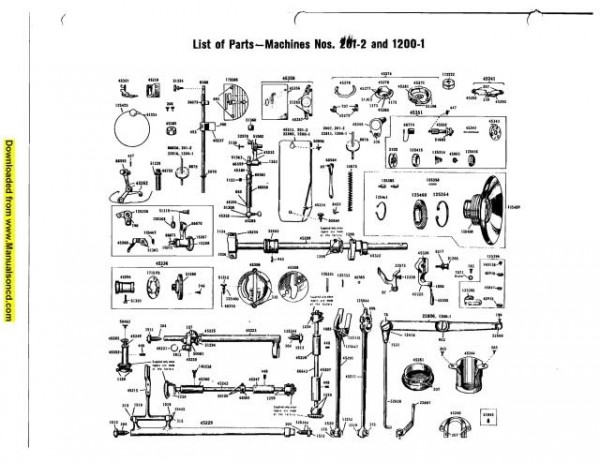 Singer 201 - 1200 Sewing Machine Service Manual