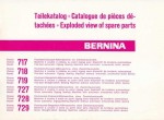 Bernina 700 Class Sewing Machine Parts Manual