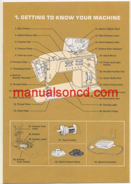 Singer 750 Touch And Sew Sewing Machine Instruction Manual