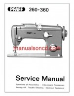 Pfaff 260-360 Sewing Machine Service Manual