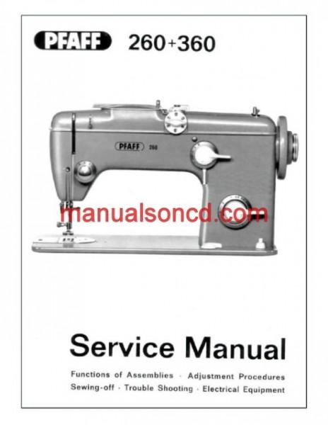 Pfaff 260-360 Sewing Machine Service Manual