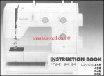 Bernina Bernette 410_420_430_440 Sewing Machine Instruction Manual