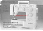 Bernina Bernette 715, 730, 740E Sewing Machine Instruction Manual