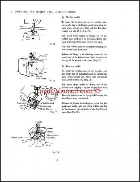 RICCAR Super Automatic Model 500FA Sewing Machine Instruction Manual