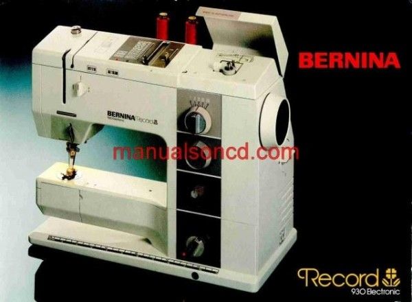 Bernina 930 Sewing Machine Instruction Manual
