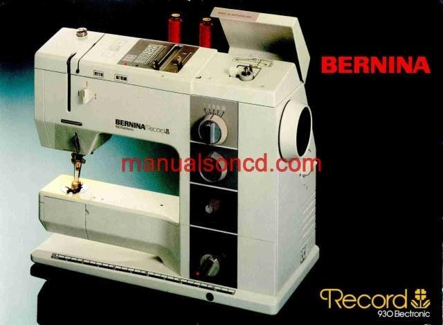 bernina record 830 service manual